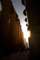 The sun at dawn, Karnak
