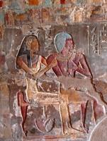 Encased mirror under chair, el-Kab, Tomb of Renni