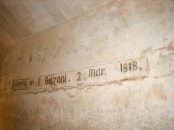 Belzoni's signature in the pyramid of Chephren