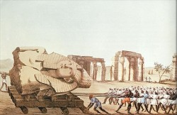 Figure 6. Hauling the bust towards the NIle