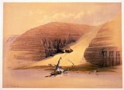 Figure 8.  Abu Simbel, David Roberts. 1848.