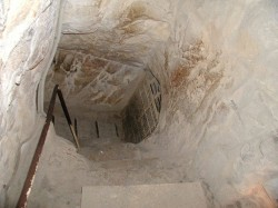 Figure 6. Downward view of al Mamoun's excavated entrance