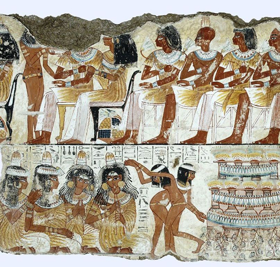 Banquet Scene, Tomb of Nebamun. Photograph courtesy of the British Museum