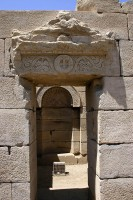 Figure 8. Archway in the Church at Dendera showing Christian decoration.