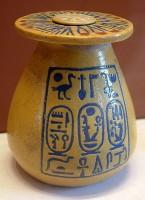 Vase Amenophis III and Tiy faience