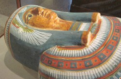 Figure 13. A mummy was a perfect form called a sah — a cocoon from which new life could emerge. This is Meresamun, a priestess of the 22nd Dynasty, now at the Oriental Institute, University of Chicago.