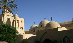 Figure 8.  The domes at the monastery of St. Syrians. Howard Middleton-Jones 2008