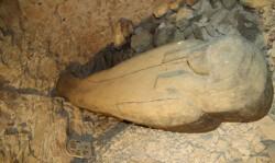 Coffin and stela, KV64. Courtesy of the University of Basel