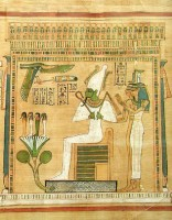 Osiris with Nephthys and Isis