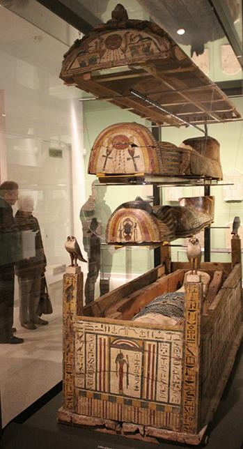 Mummy, coffins and sarcophagus