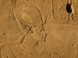 Figure 15. Horemheb wearing the khepresh blue battle crown