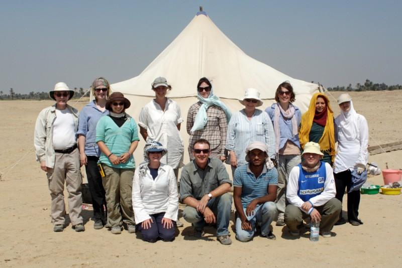 Figure 1. The Gurob team 2012. Copyright Gurob Harem Palace Project