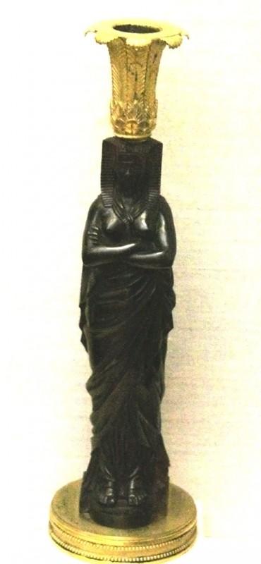 Empire period candlestick